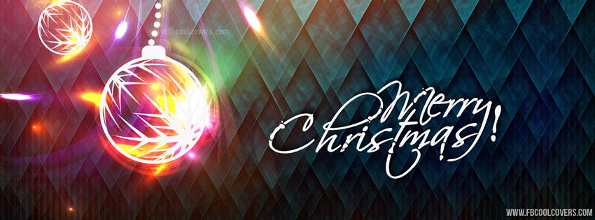 Abstract Christmas Facebook Cover