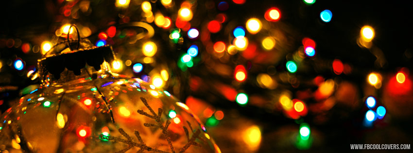 Christmas Lights Facebook Cover