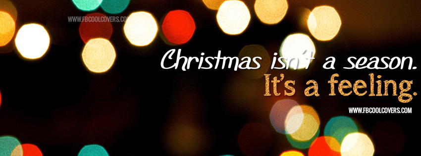 Christmas lights awesome facebook cover