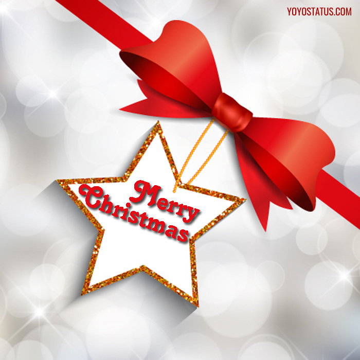 Christmas Red Ribbon Greeting Wishes
