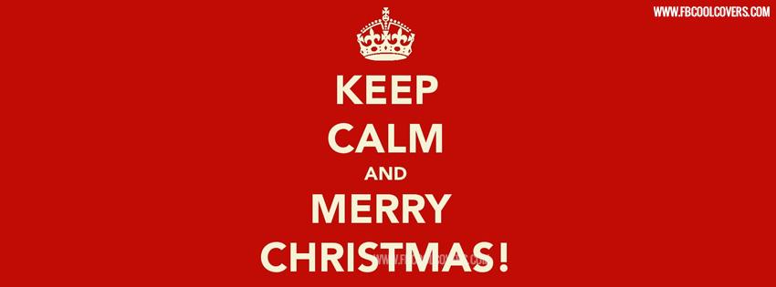 Keep calm christmas fb cover