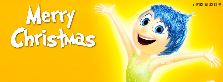 Joy wishing Merry Christmas Facebook Cover | Inside Out - YoYo Pics