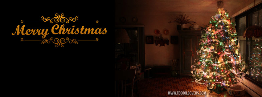 Beautiful Merry Christmas Facebook Cover, Christmas timeline covers
