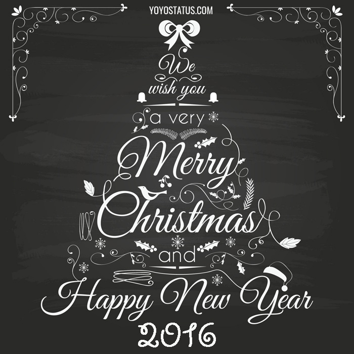 Merry Christmas & Happy New Year 2016 greeting