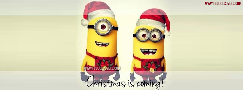 Minions Christmas Facebook Cover