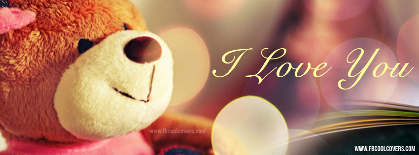 I Love You Teddy Bear Facebook Cover