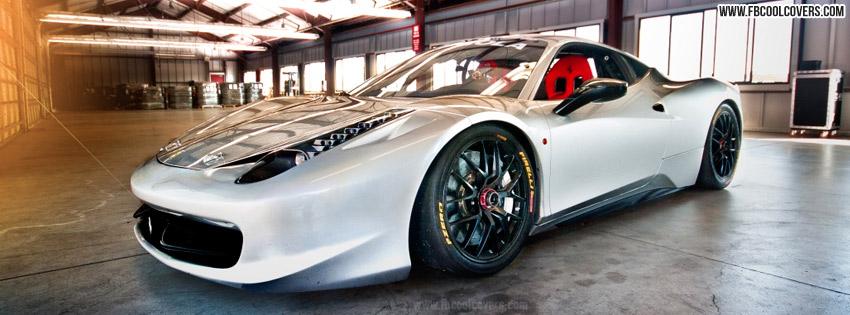 White Ferrari Car