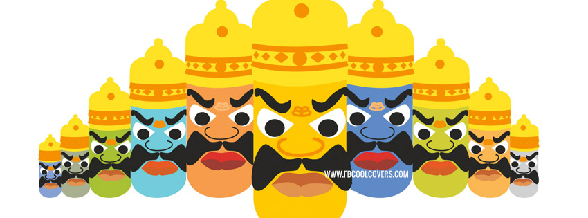 Happy Dussehra Facebook Covers
