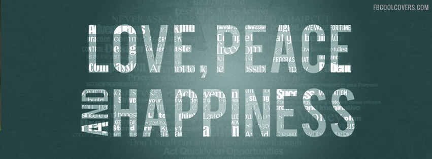 Love Peace & Happiness Fb Cover