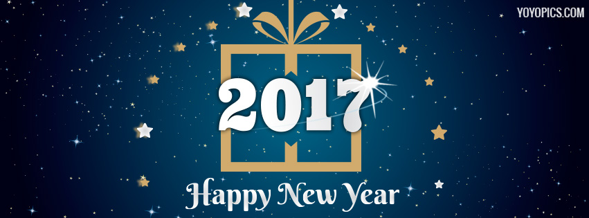 Happy New Year 2017 Stars Facebook Cover Photo